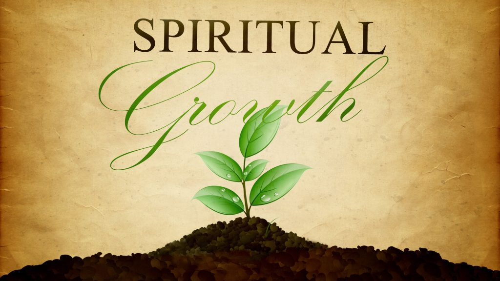 spiritual growth design of plant growing